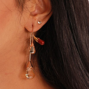 SapnaPabbi – Promise of spring (cherry red) earrings