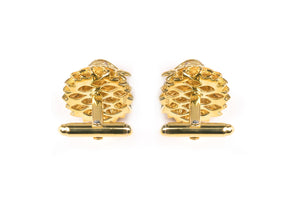 Gold falcon cufflinks