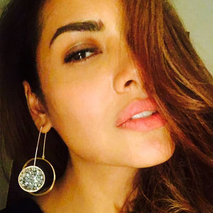 Esha Gupta – Night sky' earrings