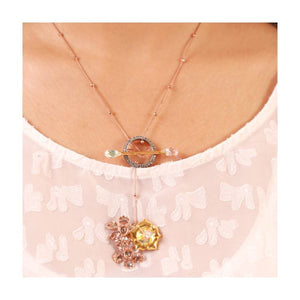 'Spring is here' toggle clasp necklace