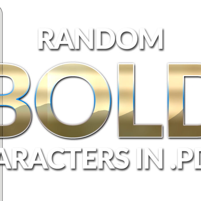 How to FIX Random bold characters in .PDFs