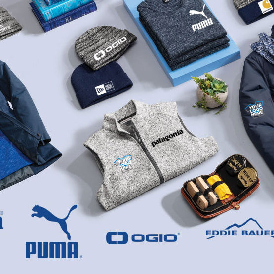 Your Logo on Popular Brands: Nike, Under Armour, New Era, The North Face, Columbia, Carhartt, Puma, Adidas and more