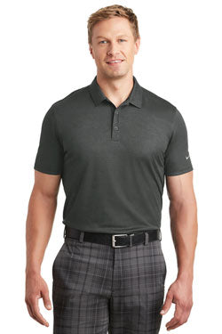 Nike Dri-FIT Crosshatch Polo With Logo