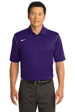 Nike Dri-FIT Sport Swoosh Pique Polo With Logo
