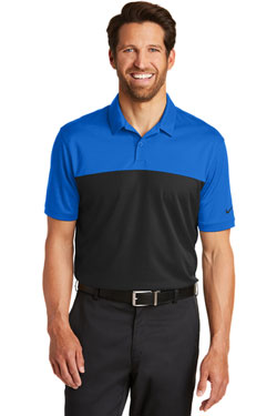 Nike Dri-FIT Colorblock Micro Pique Polo With Logo