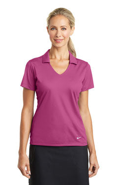 Nike Ladies Dri-FIT Vertical Mesh Polo With Logo