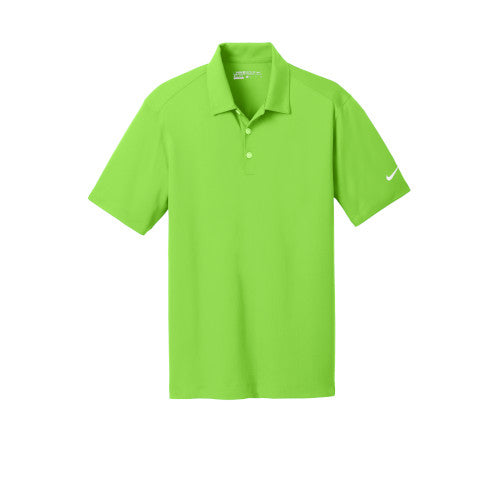 Action Green Nike Dri-FIT Mesh Golf Shirt With Logo