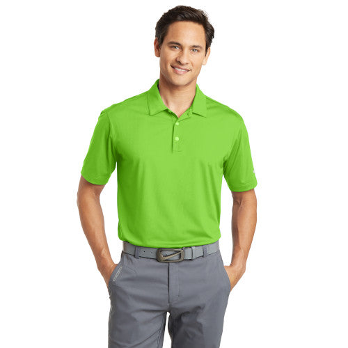 Nike Dri-FIT Mesh Golf Shirt With Logo