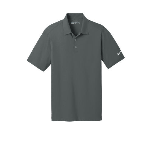 Anthracite Nike Dri-FIT Mesh Golf Shirt With Logo