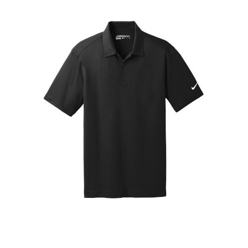 Black Nike Dri-FIT Mesh Golf Shirt With Logo