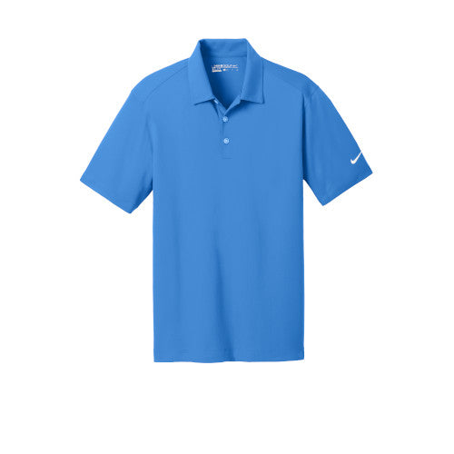 Brisk Blue Nike Dri-FIT Mesh Golf Shirt With Logo
