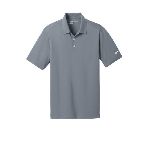 Cool Grey Nike Dri-FIT Mesh Golf Shirt With Logo