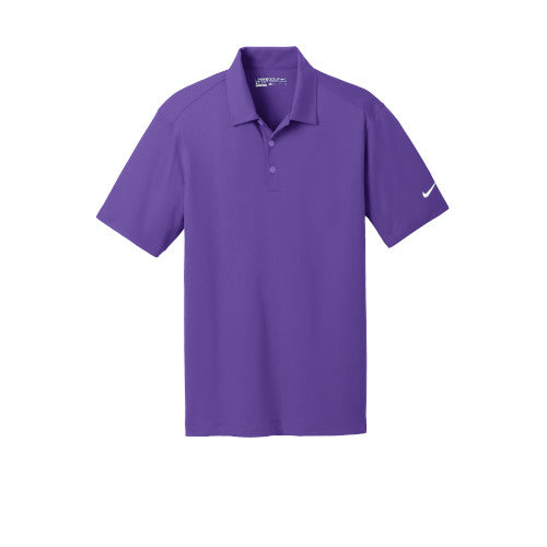 Court Purple Nike Dri-FIT Mesh Golf Shirt With Logo