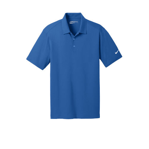 Gym Blue Nike Dri-FIT Mesh Golf Shirt With Logo