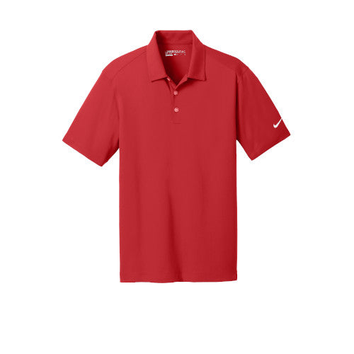 University Red Nike Dri-FIT Mesh Golf Shirt With Logo