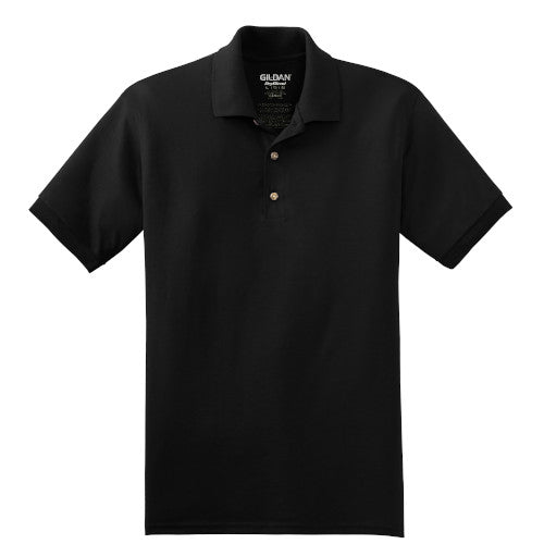 Black Jersey Knit Polo Shirt With Logo