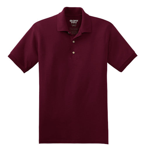 Maroon Jersey Knit Polo Shirt With Logo