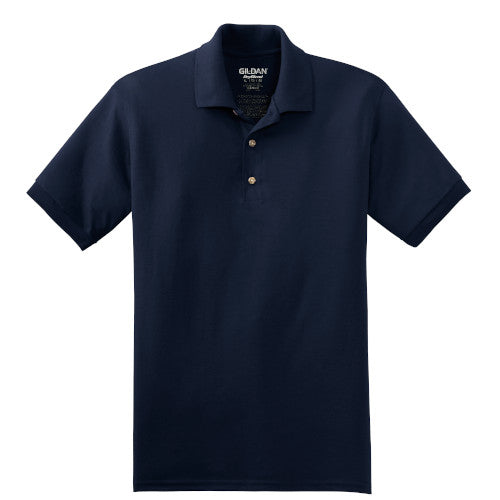 Navy Jersey Knit Polo Shirt With Logo