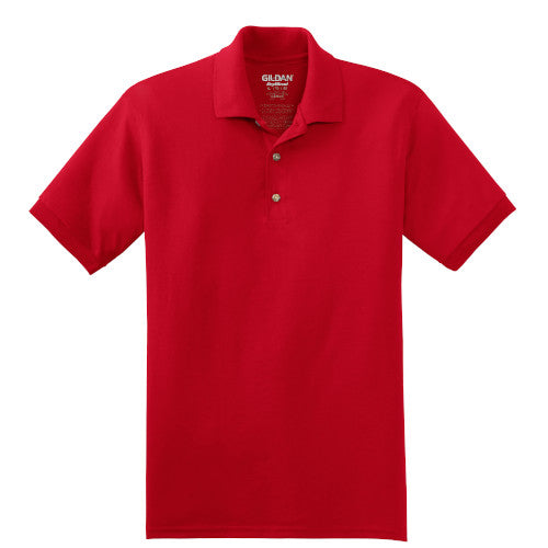 Red Jersey Knit Polo Shirt With Logo