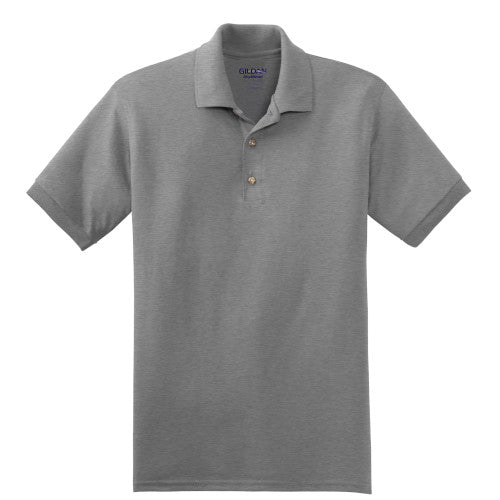 Sport Grey Jersey Knit Polo Shirt With Logo