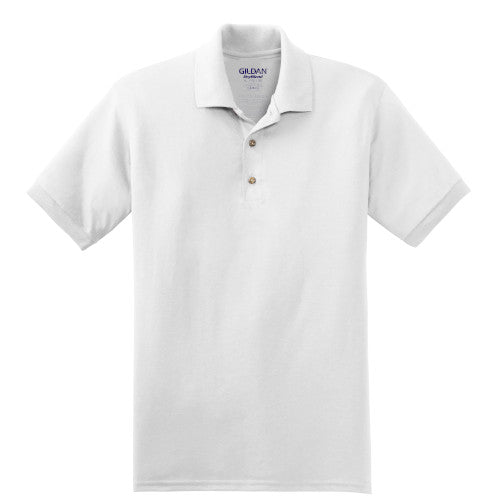 White Jersey Knit Polo Shirt With Logo