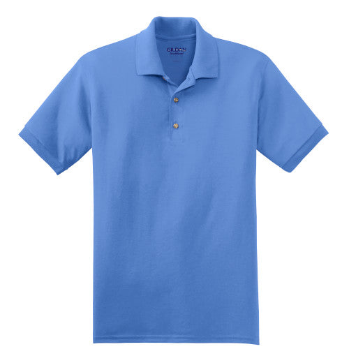 Carolina Blue Jersey Knit Polo Shirt With Logo