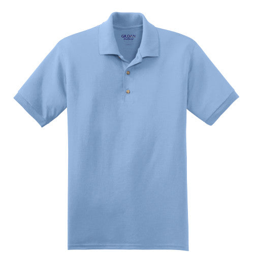Light Blue Jersey Knit Polo Shirt With Logo