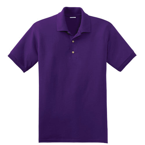 Purple Jersey Knit Polo Shirt With Logo