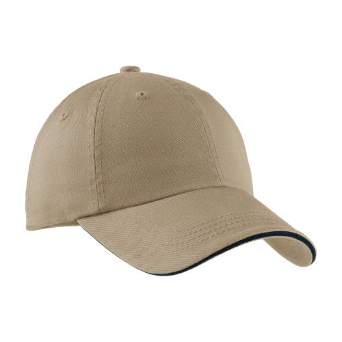 Khaki/Navy Custom Embroidered Hat Custom Logo USA