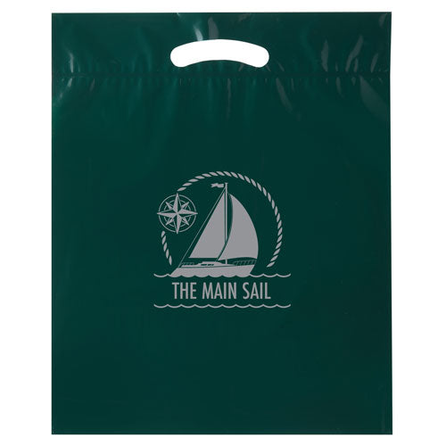 Hunter Green Custom Promotional Plastic Bag