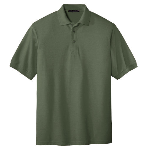 Clover Green Port Authority Silk Touch Polo With Logo
