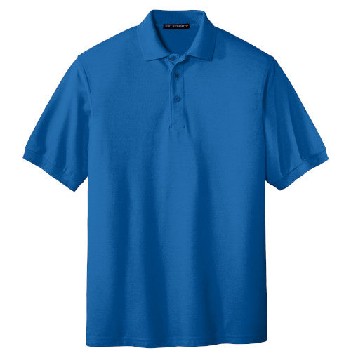 Strong Blue Port Authority Silk Touch Polo With Logo