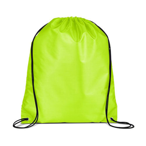 Lime Green Custom Drawstring Backpack
