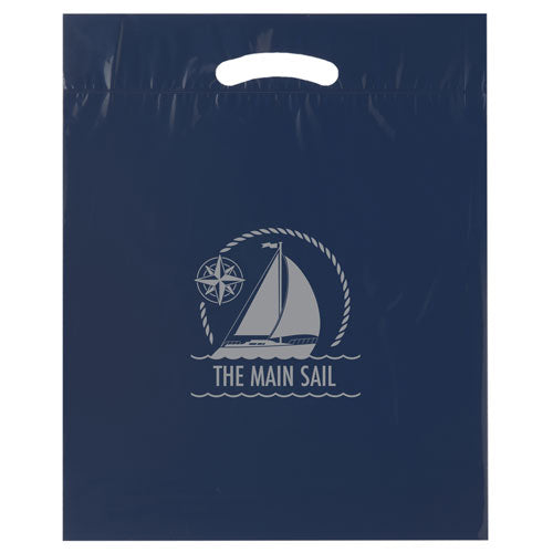 Navy Custom Promotional Plastic Bag
