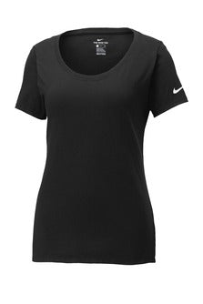 Black Custom Nike Ladies Cotton T-Shirt