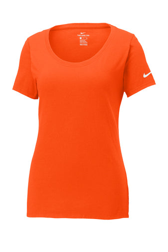 Brilliant Orange Custom Nike Ladies Cotton T-Shirt