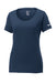 College Navy Custom Nike Ladies Cotton T-Shirt