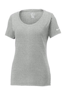 Dark Grey Heather Custom Nike Ladies Cotton T-Shirt