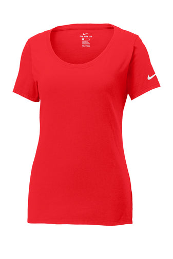 University Red Custom Nike Ladies Cotton T-Shirt