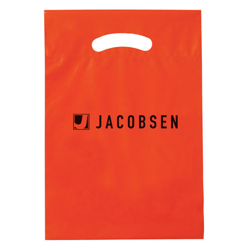 Orange Custom Promotional Plastic Bag