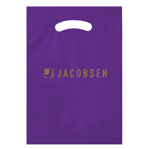 Purple Custom Promotional Plastic Bag