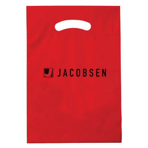Red Custom Promotional Plastic Bag