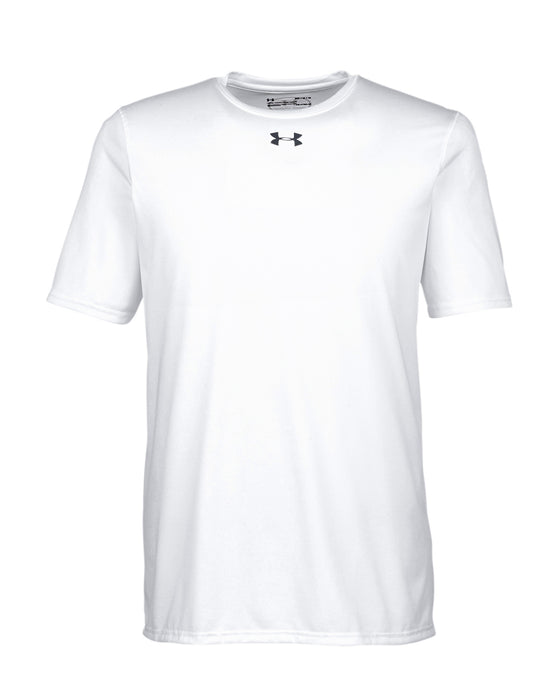 White Custom Under Armour Performance T-Shirt