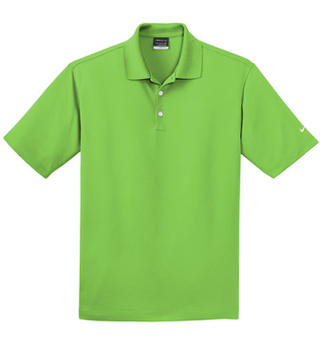 Action Green Nike Dri-FIT Micro Pique Polo With Logo