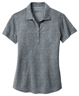 Anthracite/Cool Grey Nike Ladies Dri-FIT Crosshatch Polo With Logo