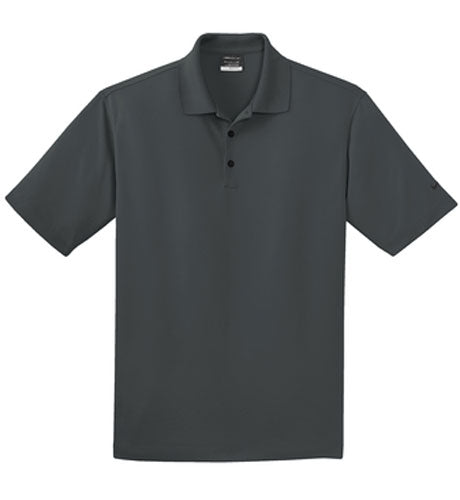 Anthracite Nike Dri-FIT Micro Pique Polo With Logo