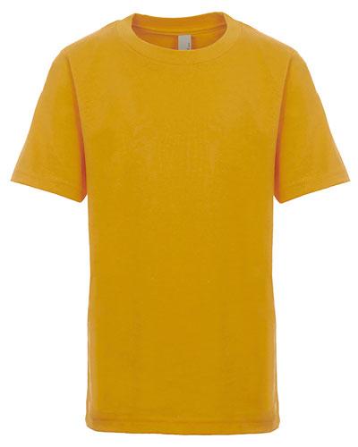 Antique Gold Custom Next Level Youth Boys' Cotton Crew