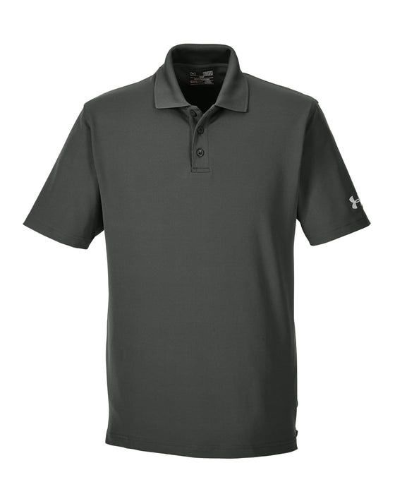 Artillery Green Custom Under Armour Performance Polo With Logo