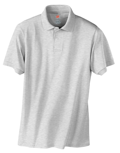 Ash Hanes Jersey Knit Polo With Logo