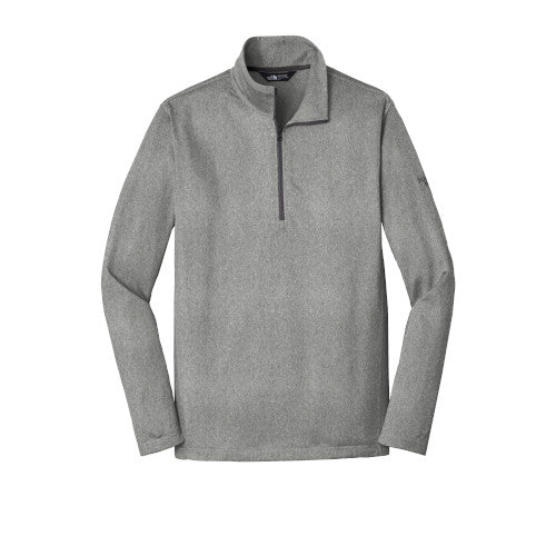 Asphalt Grey Heather Custom The North Face Tech Quarter Zip Fleece Jacket